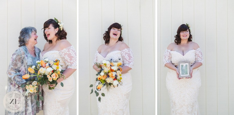 bride and mother portrait photography