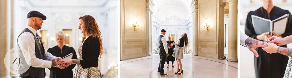 city hall rotunda wedding collage