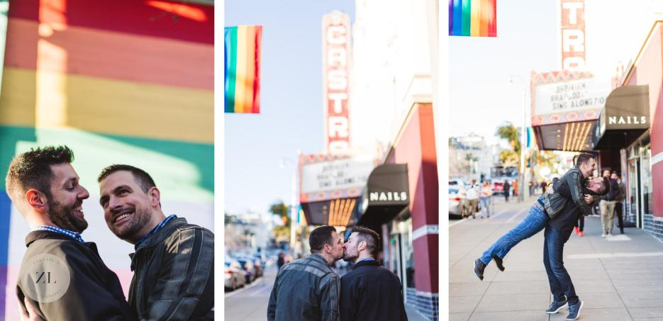 san francisco castro theatre engagement shoot