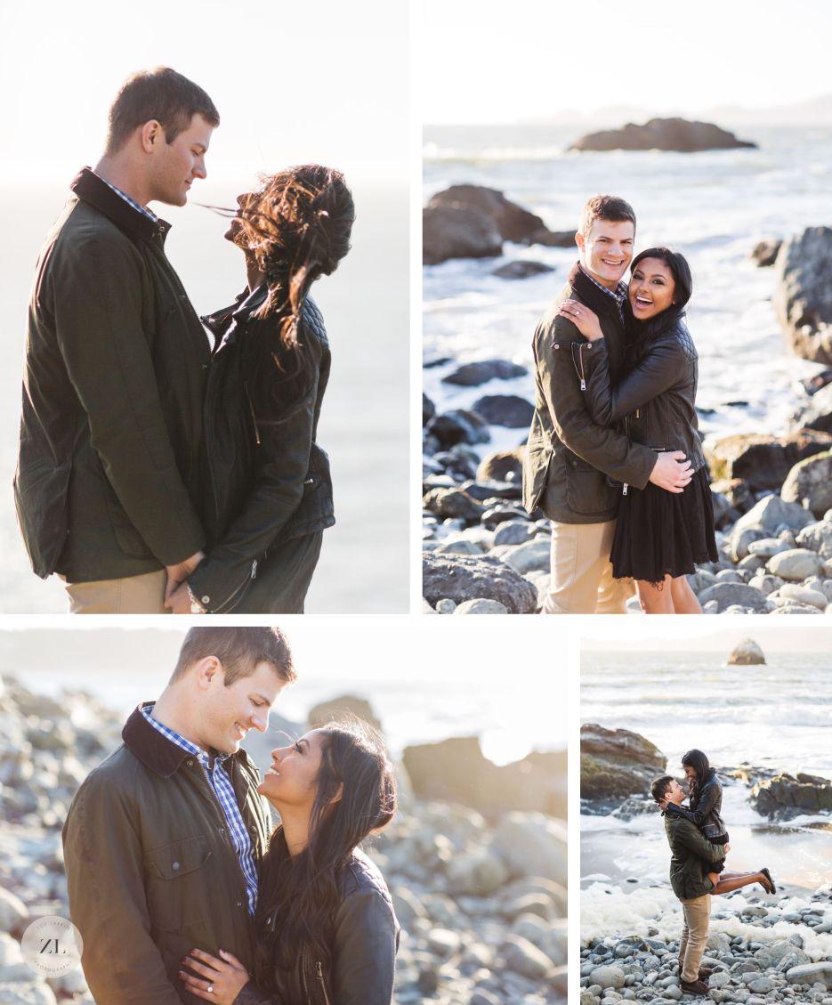 marshall's beach engagement photos