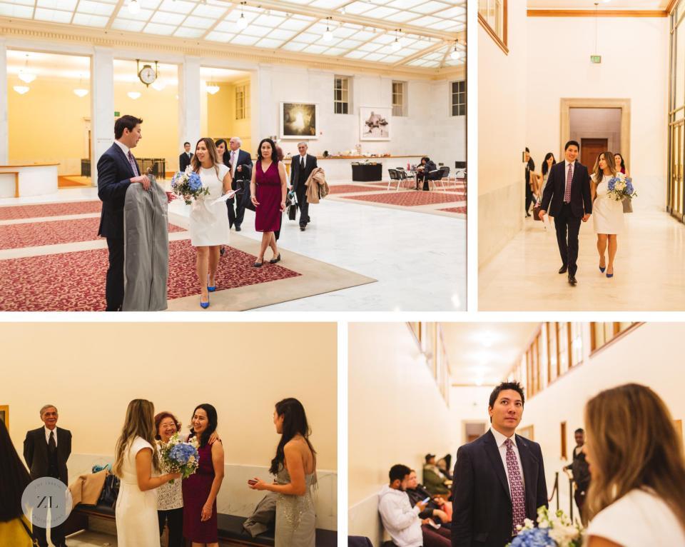 preparing for San Francisco City Hall wedding before the ceremony City Hall Vietnamese wedding