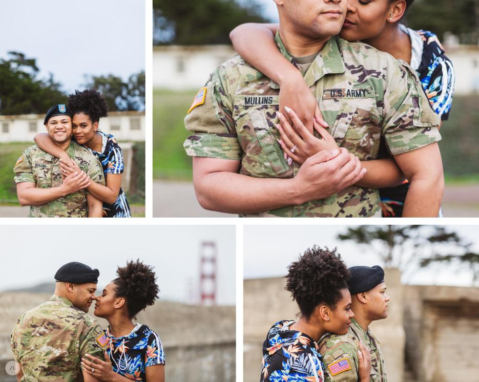 intimate couples portraits at disused military location battery godfrey san francsico