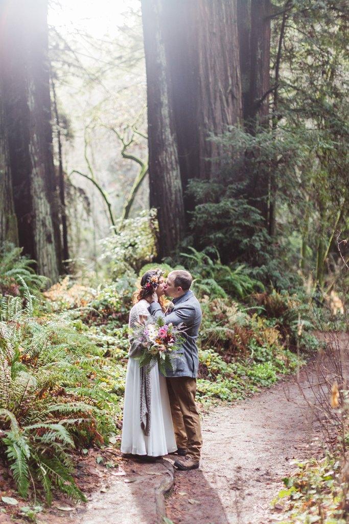 santa cruz county intimate redwood wedding