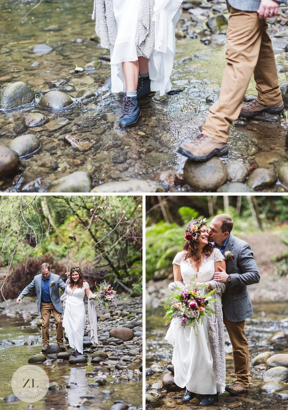 forest of nicene marks state park creek wedding photography