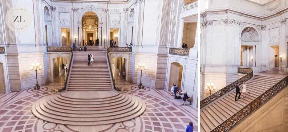 grand staircase shot at City Hall San francisco