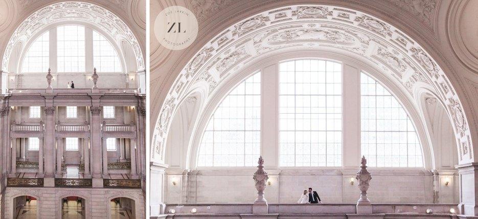 epic 4th floor north light gallery wedding photos city hall