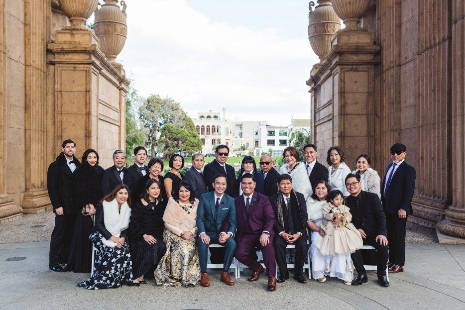 san francisco palace of fine arts wedding group