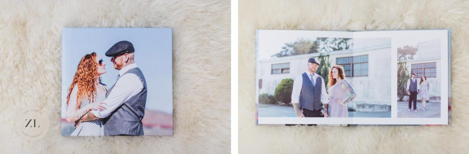 wedding book from golden gate bridge elopement wedding
