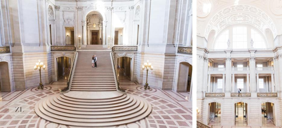 epic grand staircase shots at san francisco city hall