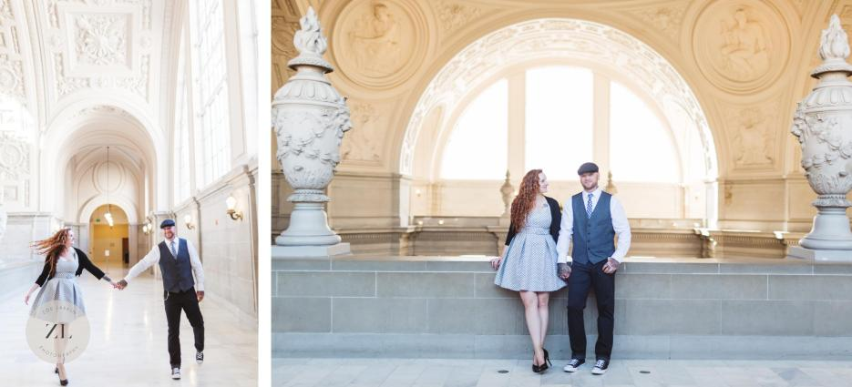rad tattooed elopement couple san francisco city hall couples portraits