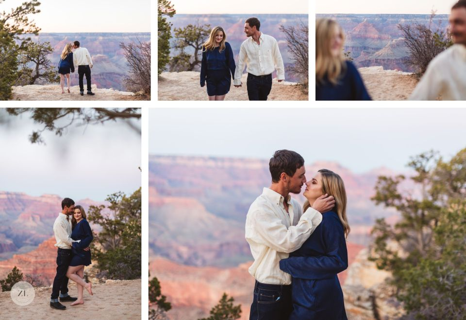 sunset at grand canyon stunning engagement photography arizona