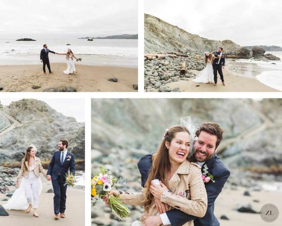 wedding photos from Marshall's Beach San Francisco by Zoe Larkin Photography