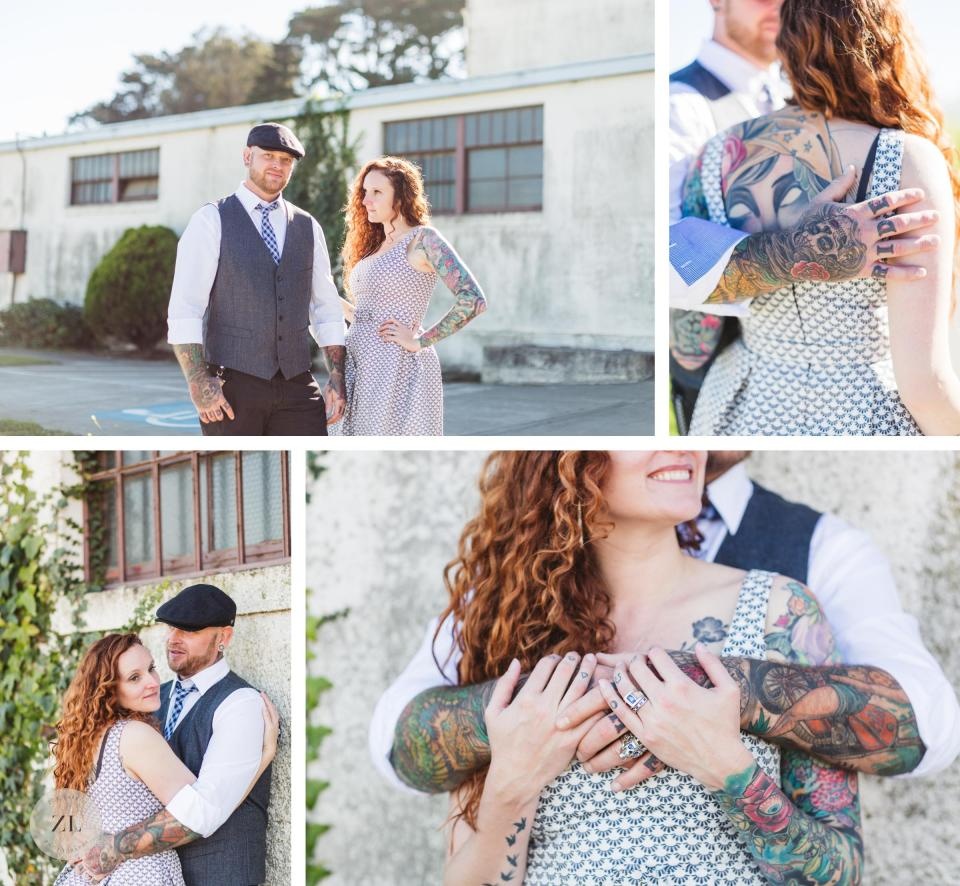 crissy field edgy couples elopement photography