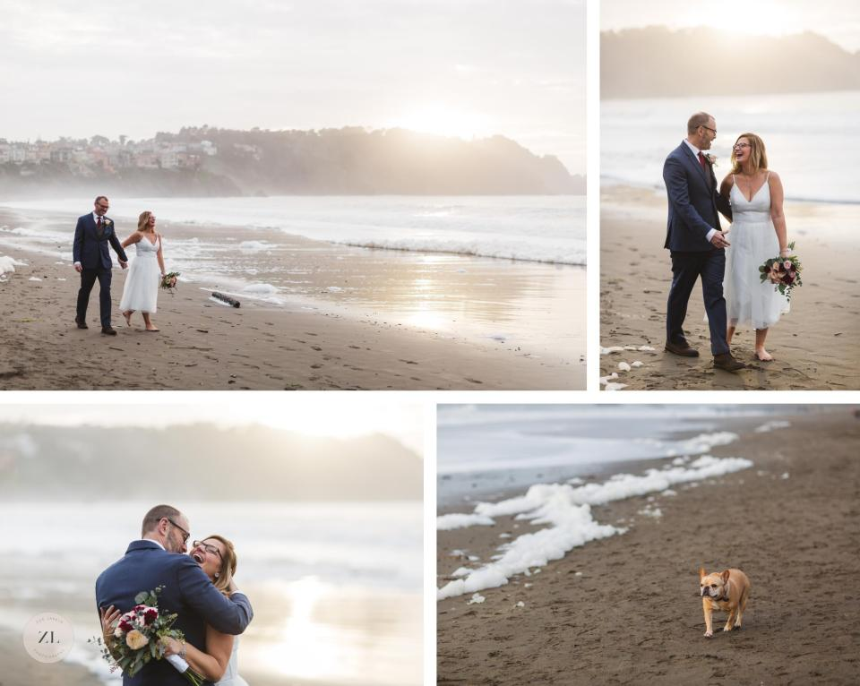 sunset couples pictures after san francisco city hall elopement