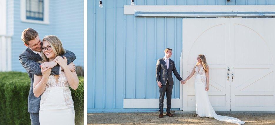 intimate wedding at vezer's blue victorian fairfield CA