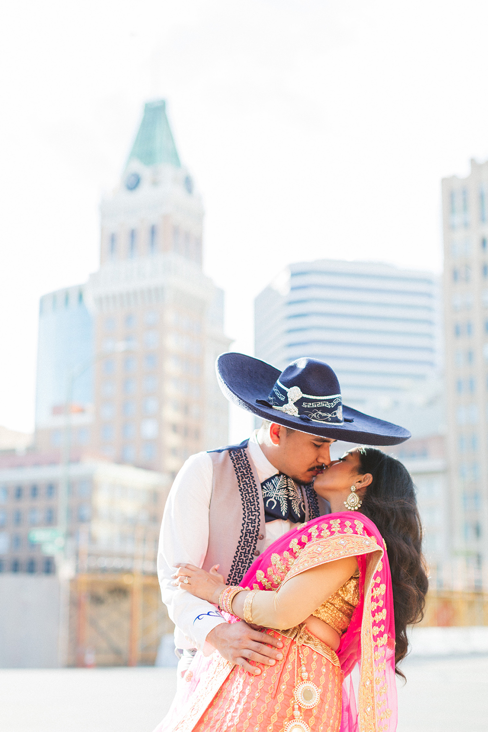 indian and mexican engagement shoot oakland