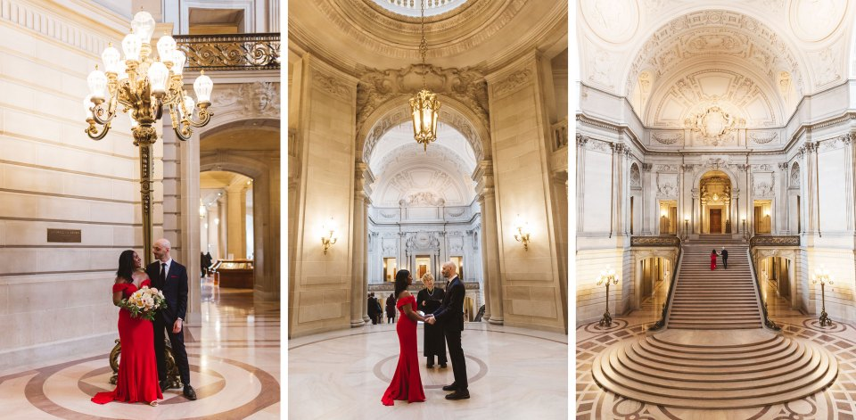 swirl couple marrying at san francisco city hall