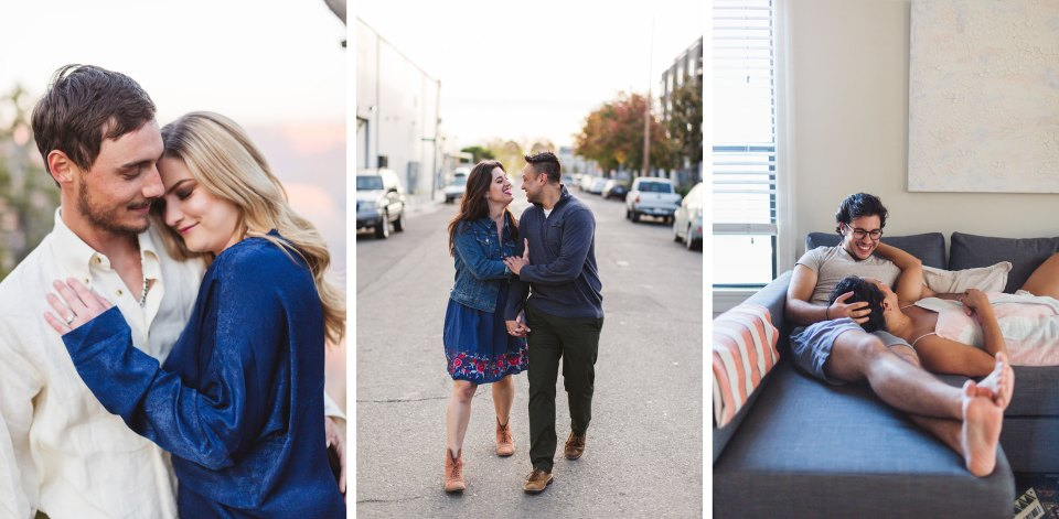 ideas for outfits to wear for your engagement photos by wedding photographer Zoe Larkin Photography