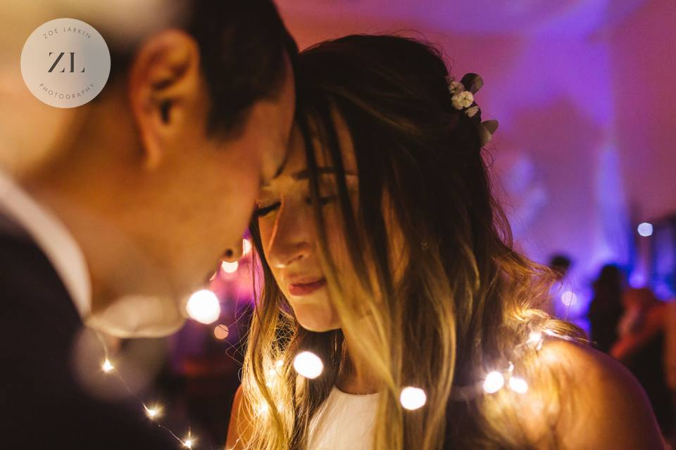 bride and groom portraits with string lights, san Francisco wedding photographer Zoe Larkin Photography