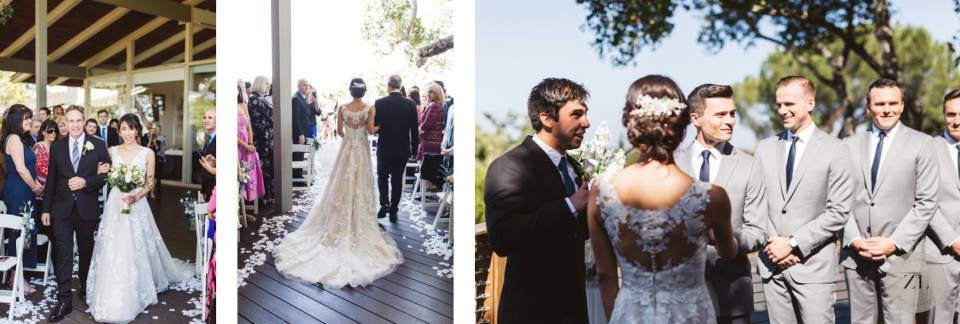 bride walking down the aisle at Quadrus Conference Center wedding | Zoe Larkin Photography