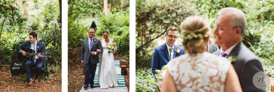 Stern Grove wedding ceremony Zoe Larkin Photography