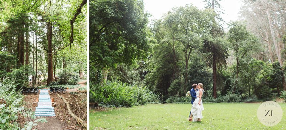 The beautiful outdoor scenery at Stern Grove for weddings