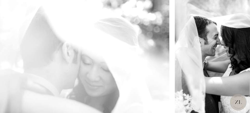 black and white veil photos - Yosemite wedding photographer Zoe Larkin