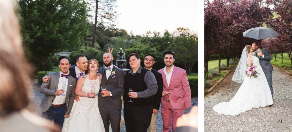 group photos at Monte Verde Inn Foresthill CA wedding