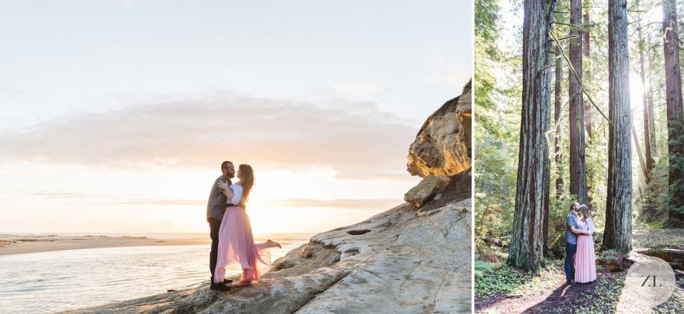 Couple's engagement photos prior to their wedding at Monte Verde Inn. Photos by Zoe Larkin Photography