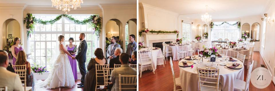 indoor ceremony and reception space at Monte Verde Inn, Foresthill