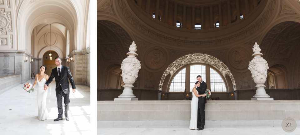 san francisco city hall wedding photography on 4th Floor