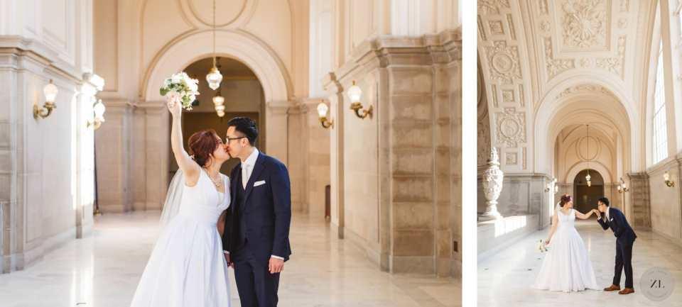 4th floor wedding photos at san francisco city hall