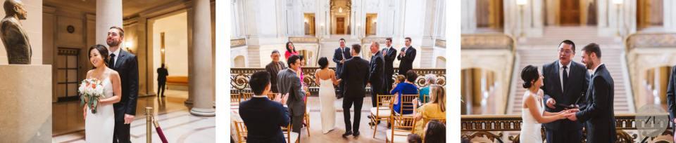 SF city hall's mayor's balcony private wedding ceremony