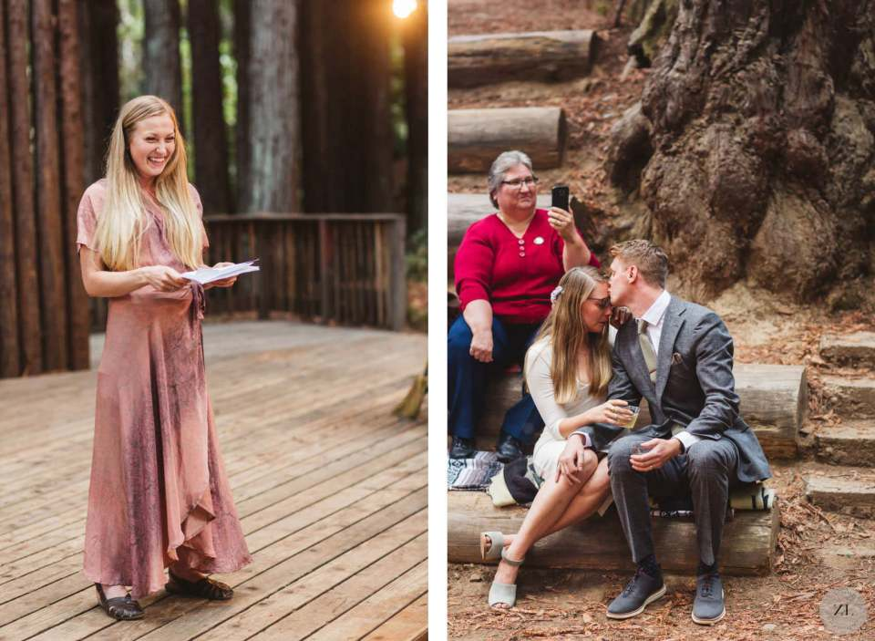 maid of honor speech on amphiteather, Camp Mendo