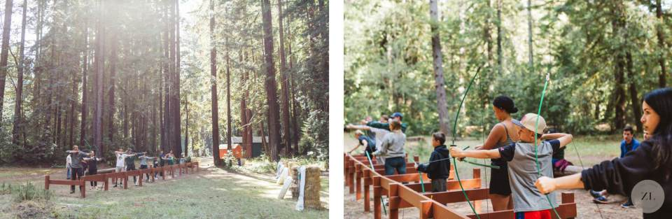Camp Mendocino Wedding activities