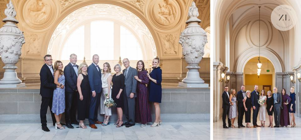 how to fit family photos into wedding day - SF City Hall photographer Zoe Larkin Photography