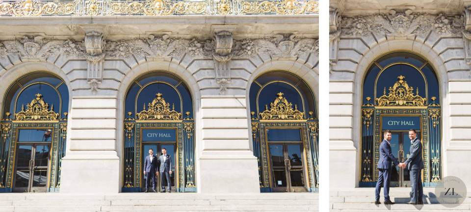 couple standing outside san francisco city hall