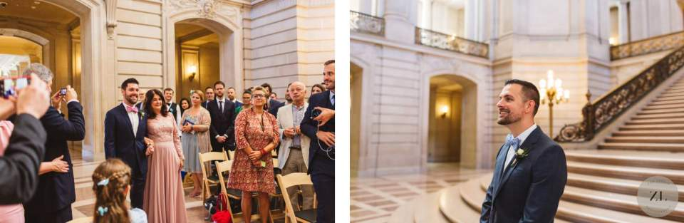 San Francisco City Hall wedding Saturday buyout wedding - 2 hour ceremony