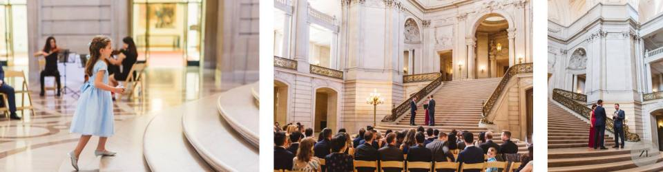 emotional wedding ceremony at San Francisco City Hall - full buyout wedding