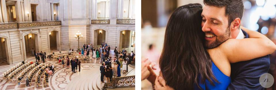 views of San Francisco City Hall wedding - Saturday buyout – 2 hour ceremony