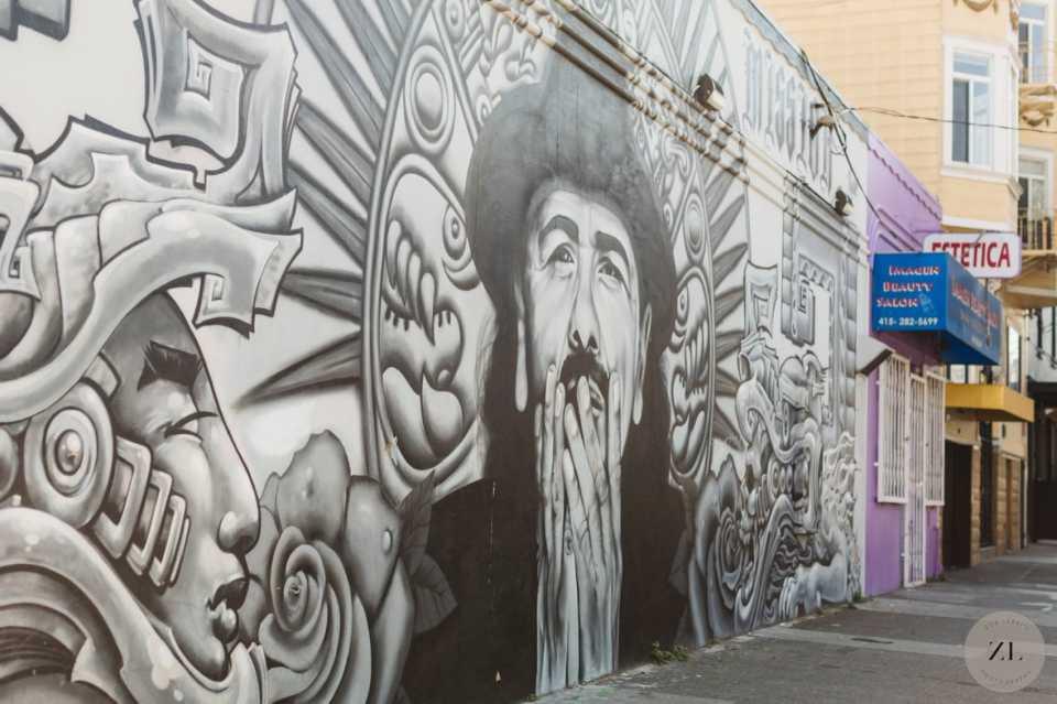 Carlos Santana mural in San Francisco's Mission District | Zoe Larkin Photography zoelarkin.com