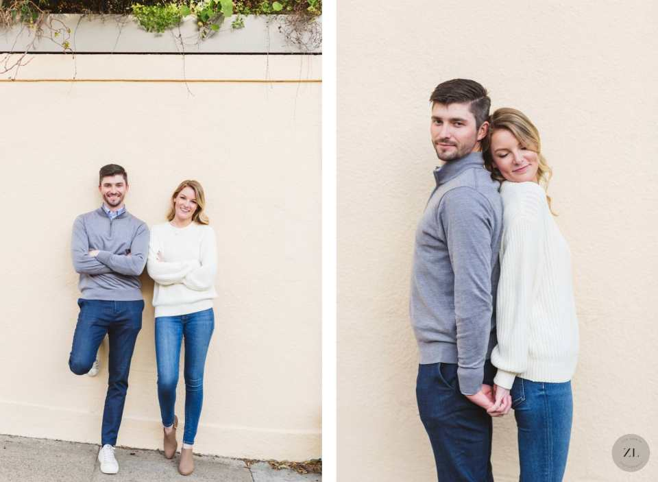 Pacific Heights neighborhood, San Francisco CA engagement photography by Zoe Larkin Photography