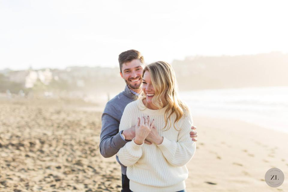 candid and fun San Francisco engagement photography – Baker Beach | Zoe Larkin Photography