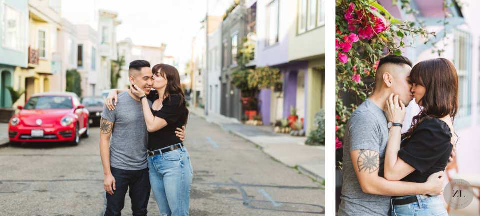 Linda Street in Mission District, SF a beautiful location for colorful and fun engagement photography