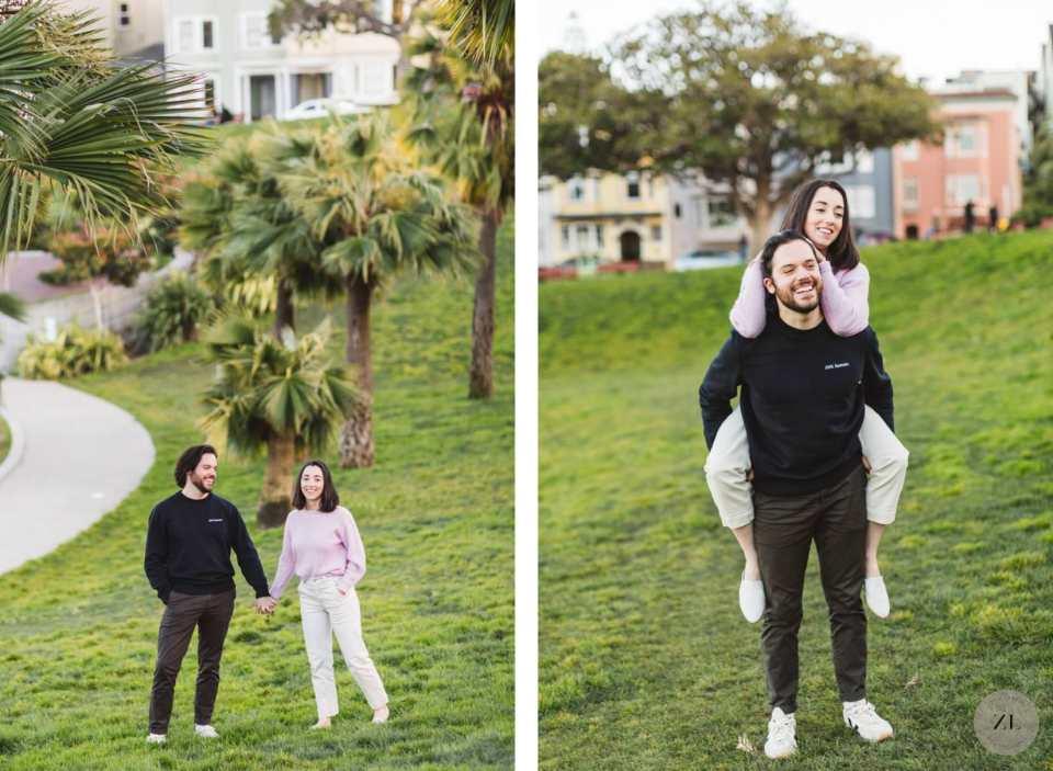 Dolores Park engagement photos in San Francisco