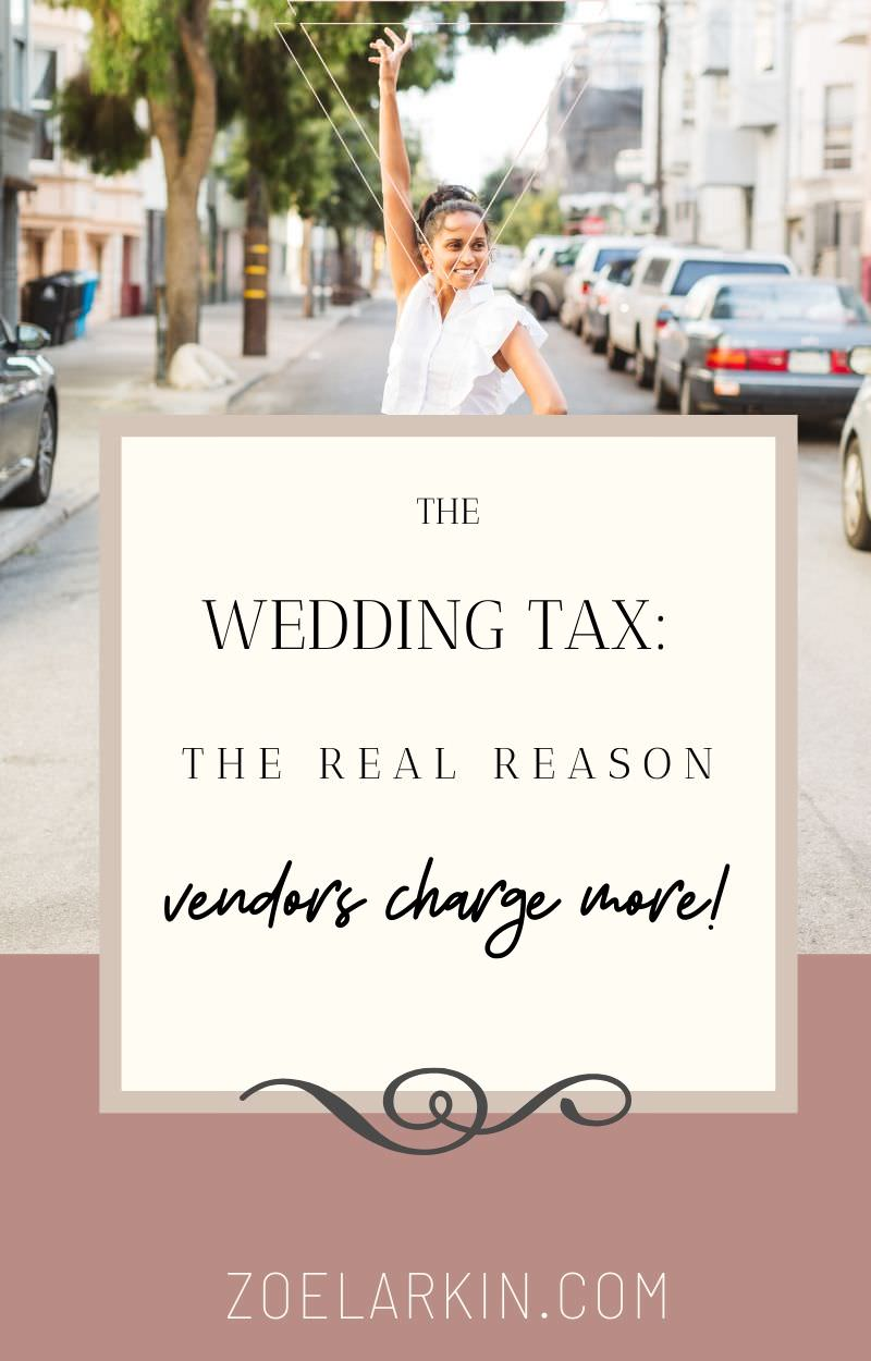 If you're planning a wedding you've probably wondered why wedding vendors charge so much for their products and services. Why do wedding-related items have such a huge markup? Are unwitting brides and grooms being taken advantage of by unscrupulous wedding vendors? We take a deep dive into wedding economics. This article lists 13 reasons why weddings can, and should cost more than non-wedding events. The answers may surprise you. #weddingeconomics #weddings | Zoe Larkin Photography