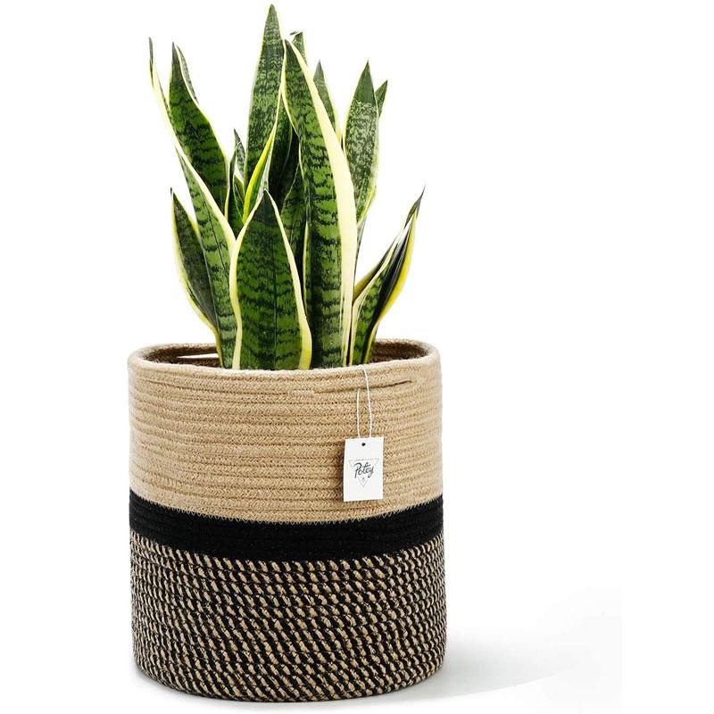 Jute Rope Plant Basket Woven Basket