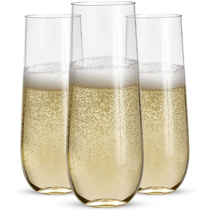 Stemless Plastic Champagne Flutes
