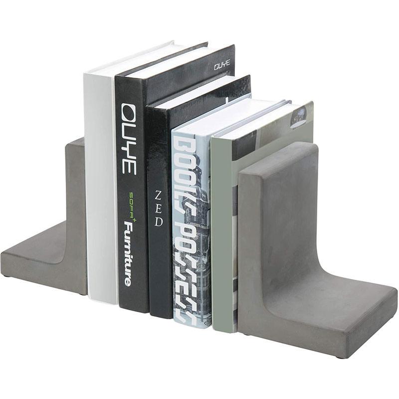 Concrete Grey Decorative Bookends