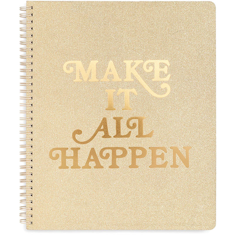 ban.do Large Spiral Notebook with 'make it all happen' on cover